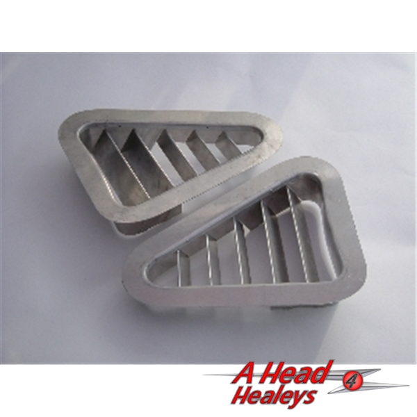 VENTS - FRONT WING -ALUMINIUM- FLANGED -PAIR-