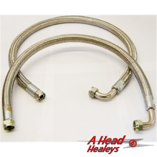 HOSE SET - OIL COOLER -BRAIDED STAINLESS-