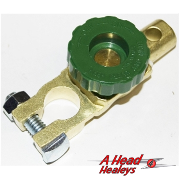 BATTERY CLAMP - BRASS -ISOLATOR SWITCH-