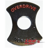 ESCUTCHEON - OVERDRIVE SWITCH -CHROME-