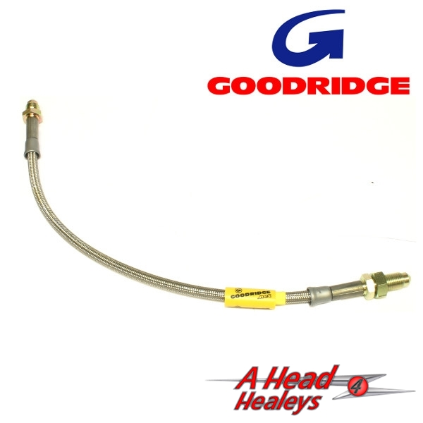 -BRAKE HOSE - REAR -GOODRIDGE- S-S- BRAIDED