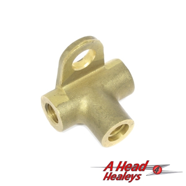 BRASS CONNECTOR - 3 WAY -USED-