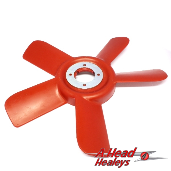 COOLING FAN - 5 BLADE PLASTIC -RED-