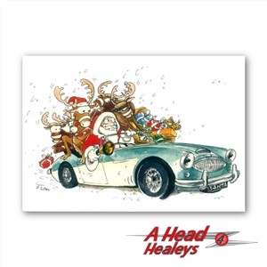 CHRISTMAS CARD - AUSTIN HEALEY 3000 -PACK OF 10-