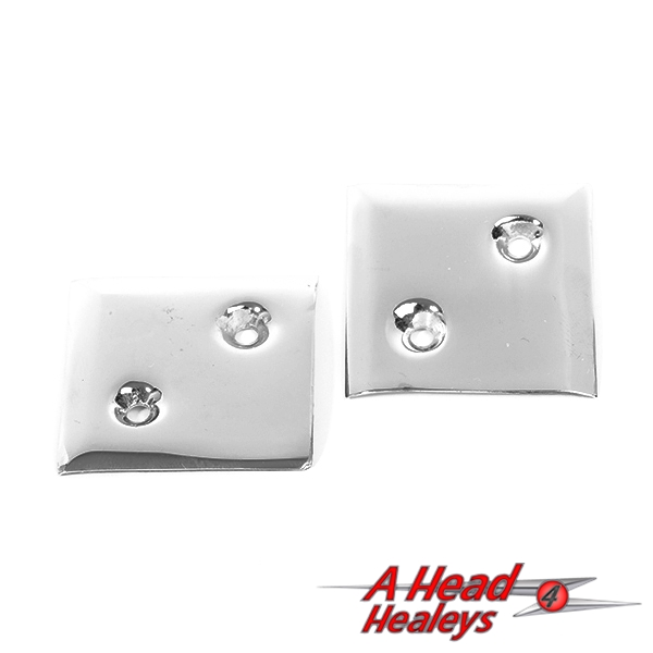 CHROME FIXING PLATES - PAIR
