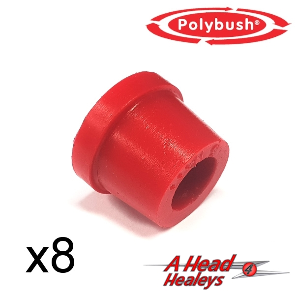 BUSH SET - INNER WISHBONE -POLYBUSH RED-