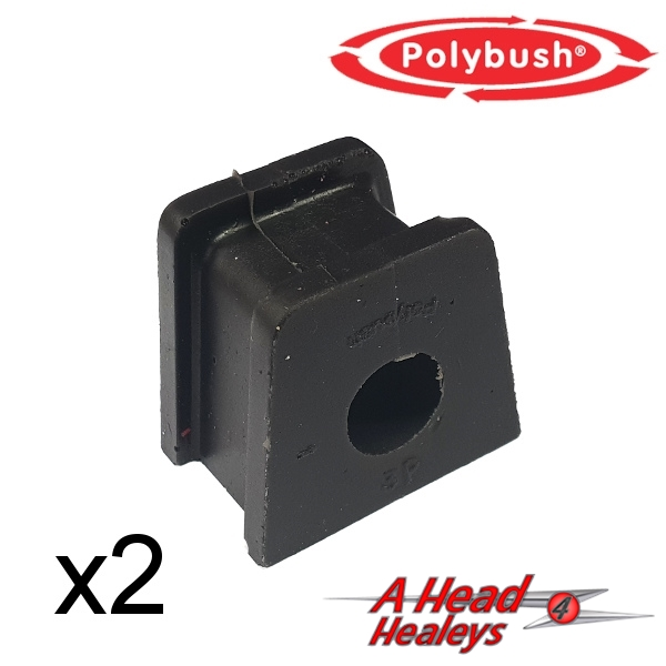 BUSH SET - STRAP BRACKET -POLYBUSH BLACK- 5-8IN