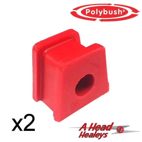 -BUSH SET - STRAP BRACKET -POLYBUSH RED- 5-8 INCH