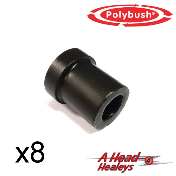 BUSH SET - CHASSIS -POLYBUSH BLACK-