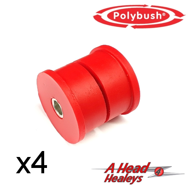 BUSH SET - RADIUS ARMS -POLYBUSH RED-