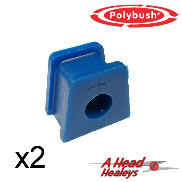 BUSH SET - STRAP BRACKET -POLYBUSH BLUE- 11-16 INCH
