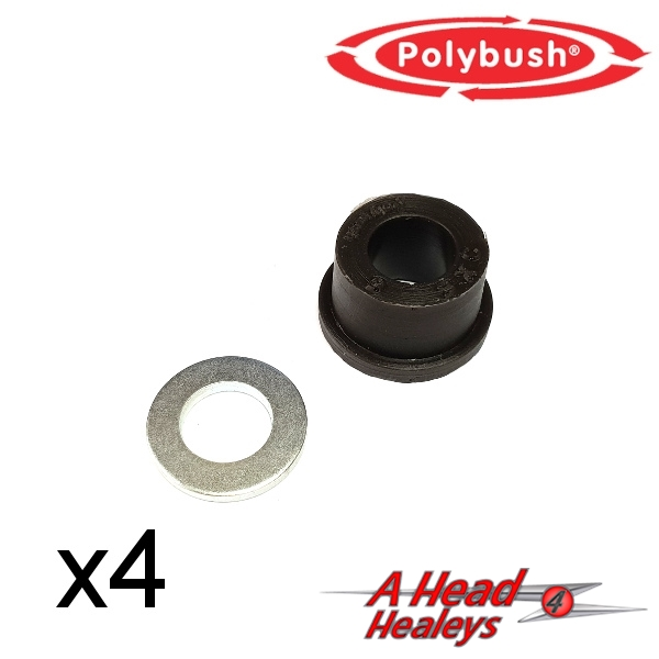 BUSH SET - TOP TRUNNION -POLYBUSH BLACK-