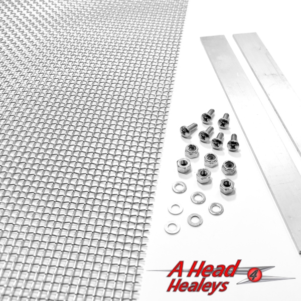 GRILLE MESH - STAINLESS STEEL -32IN X 12IN-