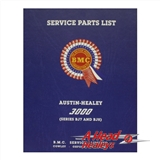 PARTS LIST - MECHANICAL - BODY -HARD COVER-