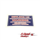 DECAL - GIRLING WARNING -RESERVOIR-