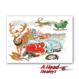 CHRISTMAS CARD - AUSTIN HEALEY FROGEYE -PACK OF 10-