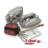 4 POT CALIPER KIT - ALUMINIUM -C-W PINS - PADS-