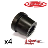 -BUSH SET - INNER FULCRUM PIN -POLYBUSH BLACK-