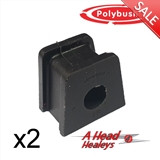 -BUSH SET - STRAP BRACKET -POLYBUSH BLACK- 9-16 INCH