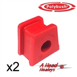 -BUSH SET - STRAP BRACKET -POLYBUSH RED- 9-16 INCH
