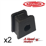 -BUSH SET - STRAP BRACKET -POLYBUSH BLACK- 5-8 INCH