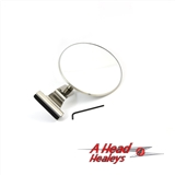 QUARTER LIGHT MIRROR - CLAMP ON -ROUND-