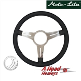 STEERING WHEEL - LEATHER RIMMED -15IN- SLOTTED SPOKE